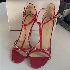 Strappy Red Heels
